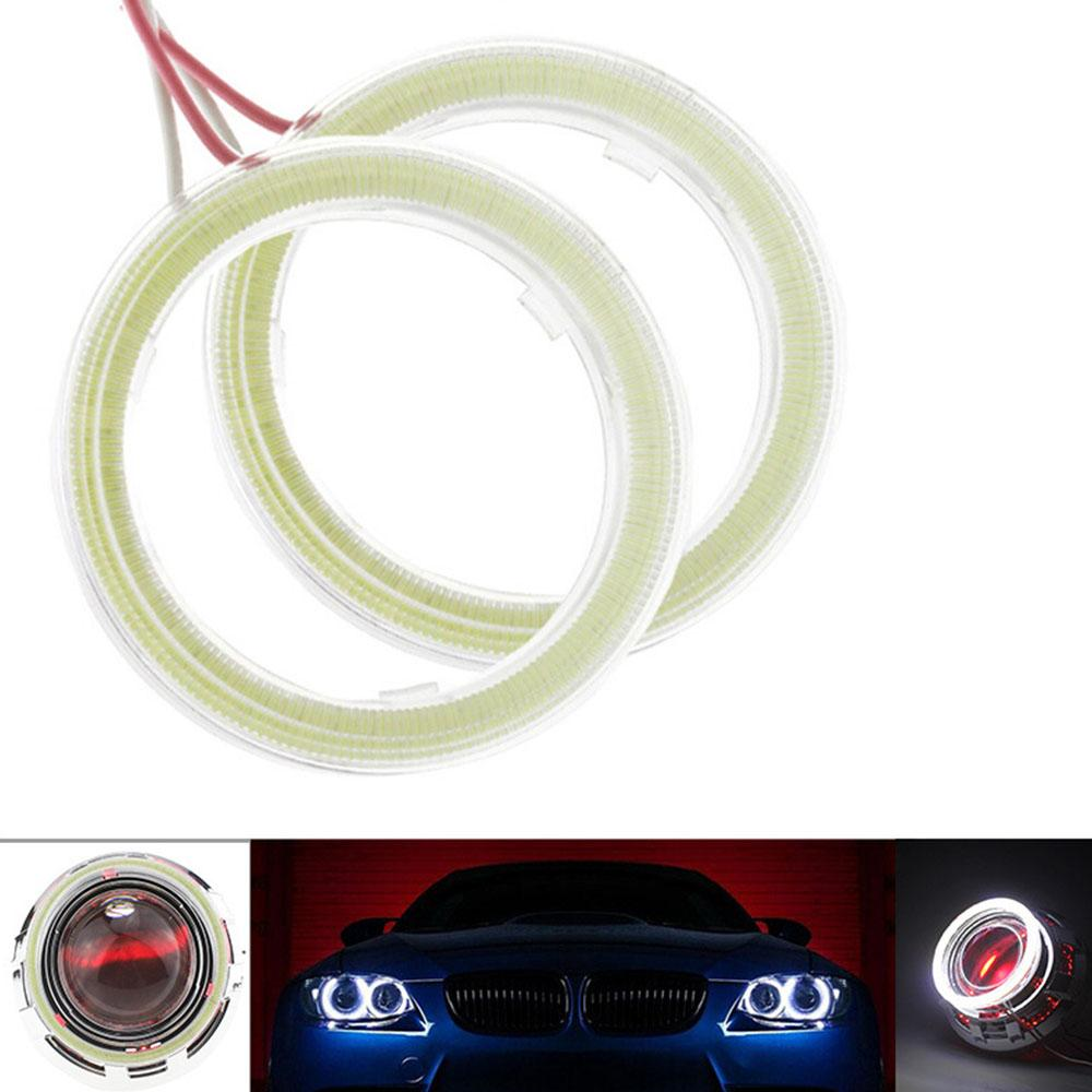 1 Pair Car Angel Eyes LED Car Halo Ring Lights 12V 3W Daytime Running Headlamp 60MM 70MM 80MM 90MM 100MM 110MM 120MM Light