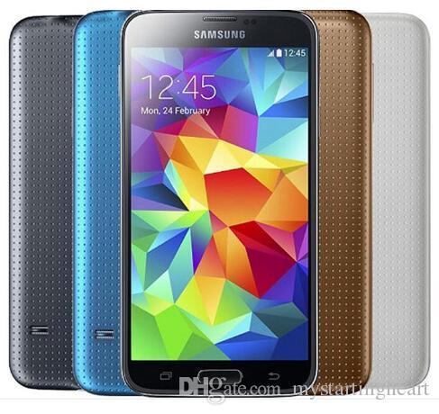 Original recondicionado Samsung Galaxy S5 i9600 G900A G900T G900F com bateria nova Quad Core 2 GB 16 GB 4G LTE