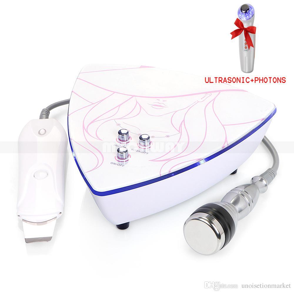 Limpiador de ultrasonidos para la piel y limpiador ultrasónico para la piel Máquina de la belleza Limpieza profunda con ultrasonido LED Light Photon Therapy