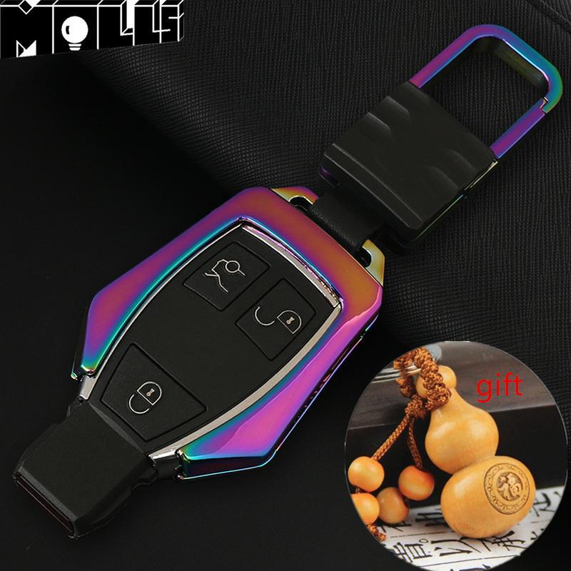 Çinko alaşımlı Anahtar Kapak Anahtar Çanta Mercedes Benz W203 W204 W210 W211 W204 A C D G CLS CLK CLA GLK ML SLK Anahtar Case yüzük