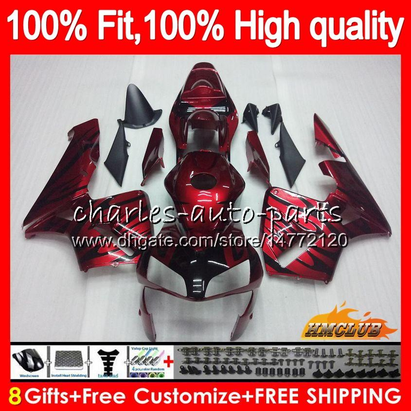 OEM Wtrysk dla Hondy CBR 600RR 600F5 CBR600F5 CBR600 RR 03 81HC.9 Dark Red New Cbr600RR CBR 600 RR F5 03 04 2003 2004 100% Fit Wishing
