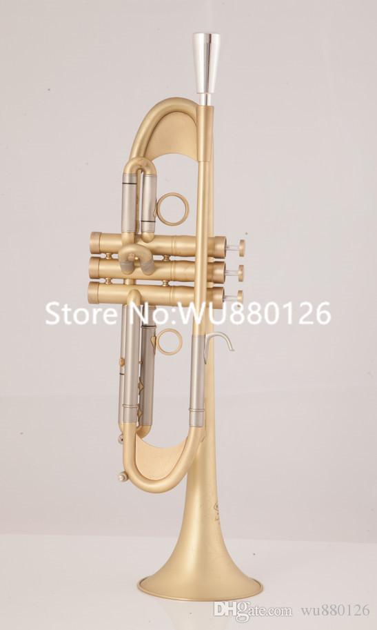 Высококачественная профессиональная падающая мелодия BB Trumpet Tr-305g мундштук из музейного музыкального инструмента с корпусом, вглубь бесплатная доставка