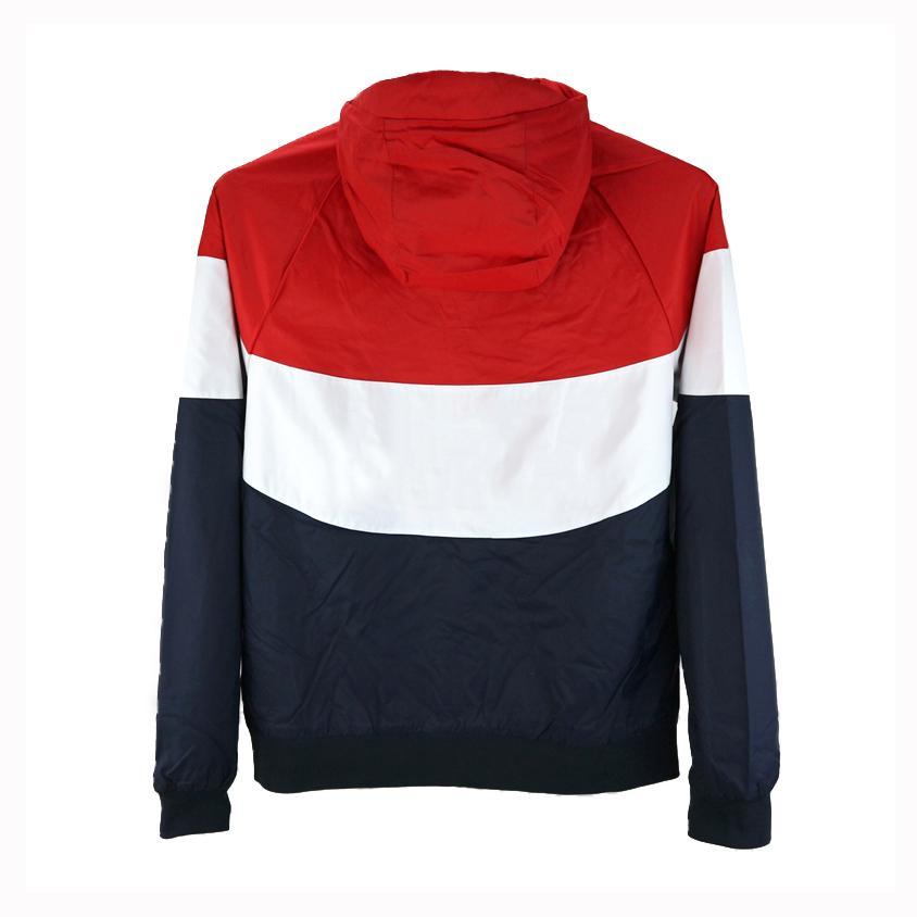 Venta al por mayor Hombres Chaquetas Spring Windbreaker Sports Brand Red Designer Black Coats Street Style Sudaderas con cremallera de alta calidad Naranja CE98232