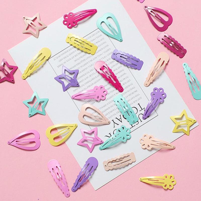6 pc / set Nuovo capelli del metallo della clip del fumetto sveglio Forma BB delle clip ragazze forcine bambini Headwear Accessori dei capelli dei bambini Perni per bambini
