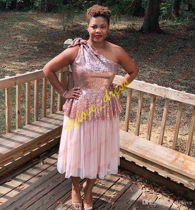 2019 SEXY SEXY PEUCHE PLUS Taille Courte African Black Girl Gala Cocktail Robes Vestidos de Fiesta Arabe Robe de soirée
