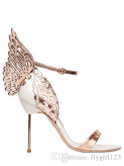 кожа пятки крыла украшение свободных женщин перевозкы груза, с открытым носком сандалии размер: 34-42