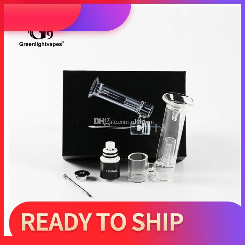 510Nail Kit Portable Enail With 3 Different XL Nails 510 Wax Dab Pen G9 Greenlighvapes Wax Vaporizer Kit Smoking Device