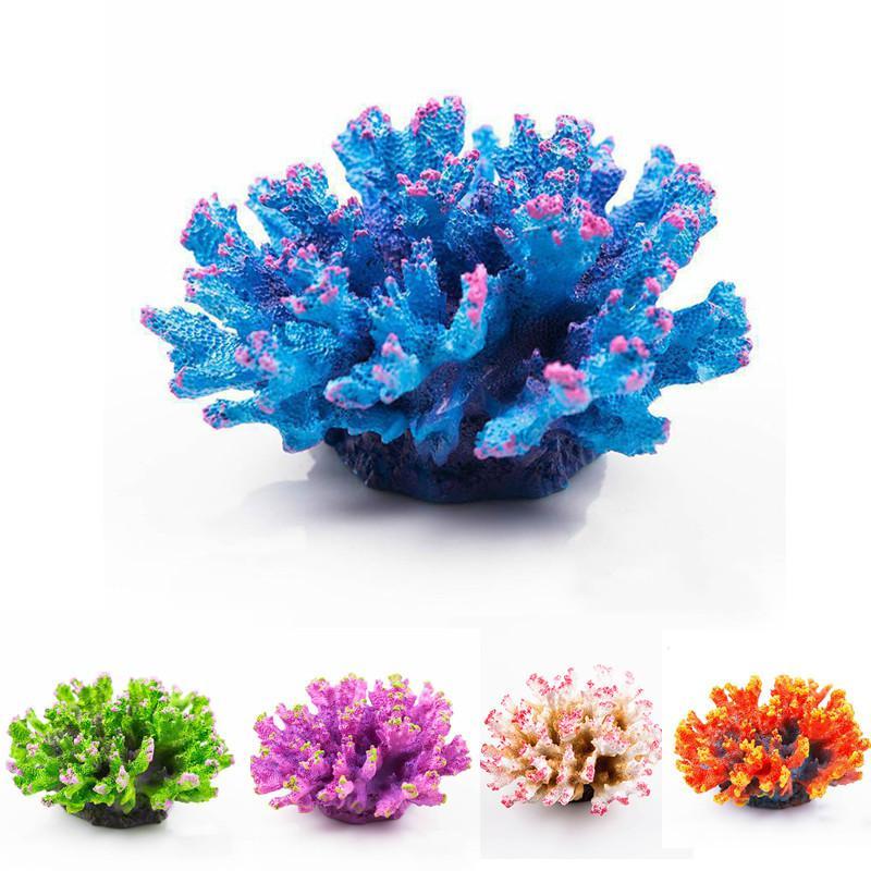 اصطناعية حوض السمك المرجان الديكور تانك الأسماك المرجانية حلية روك زهرة المناظر الطبيعية أكواريو ديكور ديكور الرخام
