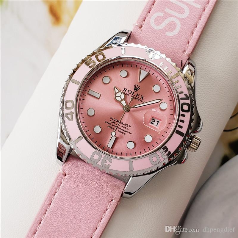 ТОП роскошные часы пары Стиль Классический модный новый кожаный ремешок мода мужчины мужские женщины женские часы Часы наручные Watchaaa