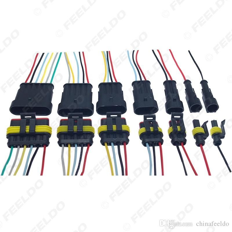 Auto Car Waterproof 1P 2P Way Electrical Connector Plug Wire Harness Motorcycle AWG HID Socket Adapter #6123