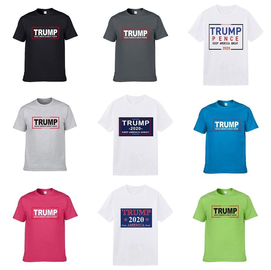 Marque Trump T-shirts 2020 d'été Hommes Femmes Couple Designer Haut T-shirts manches courtes Pull Taille Kak # 549