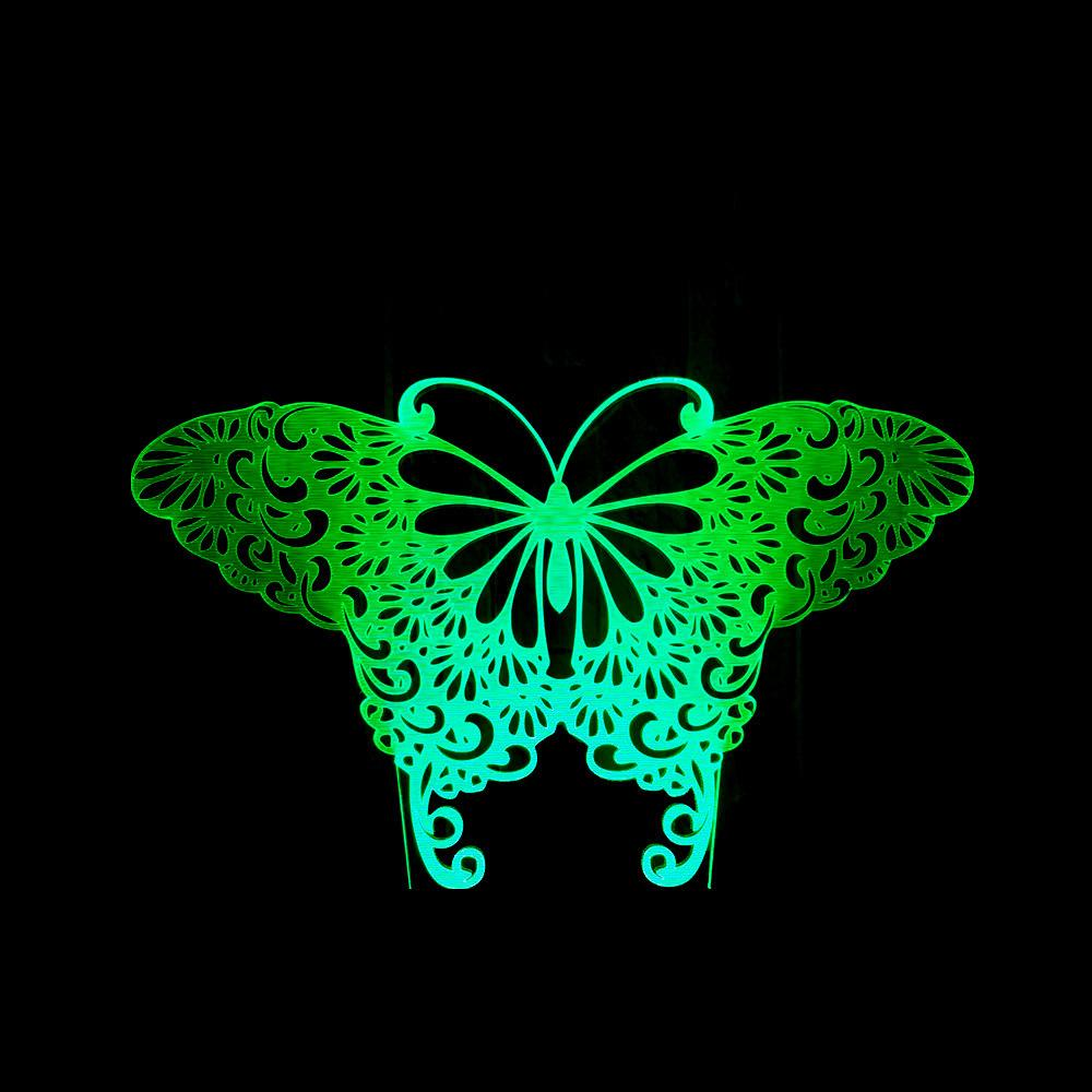 Butterfly Colorful Touch 3d Маленький ночник Интеллектуальное управление USB 3d Маленький настольный светильник Major Индивидуальные производственные 3d светодиодные настольные лампы