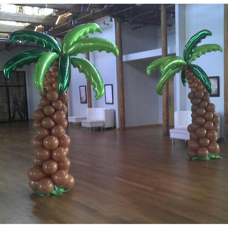 Palme Hochzeit Dekorationen Ereignis-Party liefert Höhe 1,6 Meter voll Kokosnussbäume Ballon Spalte Dekorationen