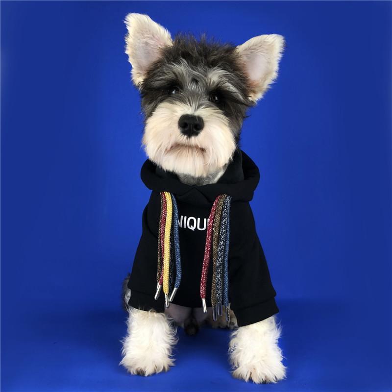 귀여운 강아지 고양이 스웨터 문자 인쇄 Outerwears 테디 강아지 불독 의류 가을 겨울 스웨터 애완 동물 후드 후드를 따뜻하게