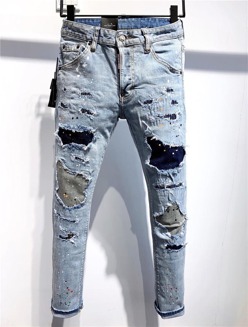 Dsquared2 dsq2 SS20 Nouveau Arrivée D2 Top qualité Marque Designer Hommes Denim Jeans Pantalons cool Guy broderie Trous de mode Pantalon Italie Taille 44-54 9639