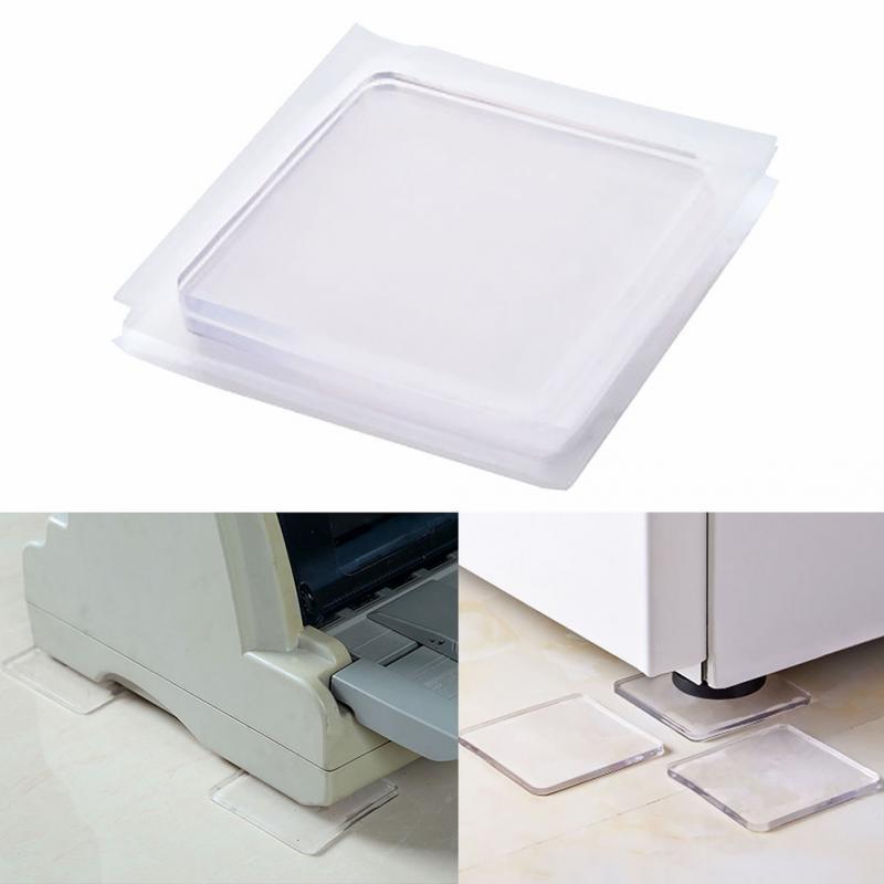 4pcs convenientes / set Choque de ratón anti-vibración Pad para Lavadora de silicona antideslizante Mats Frigorífico multifuncional