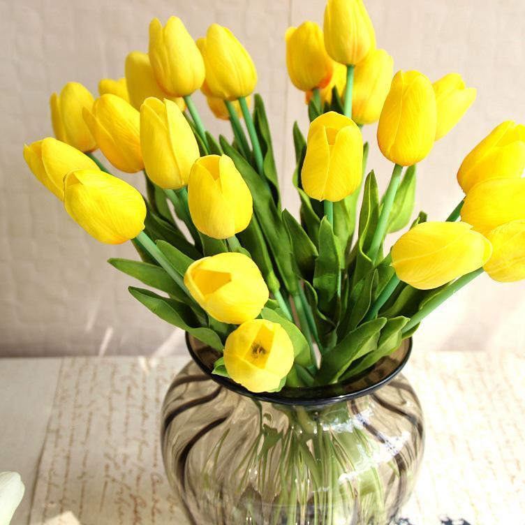 1Pcs Tulip Искусственных цветов Real сенсорного Artificiales Para Decora Букет цветы для дома подарков Свадьбы Декоративных цветов Фиктивного завода