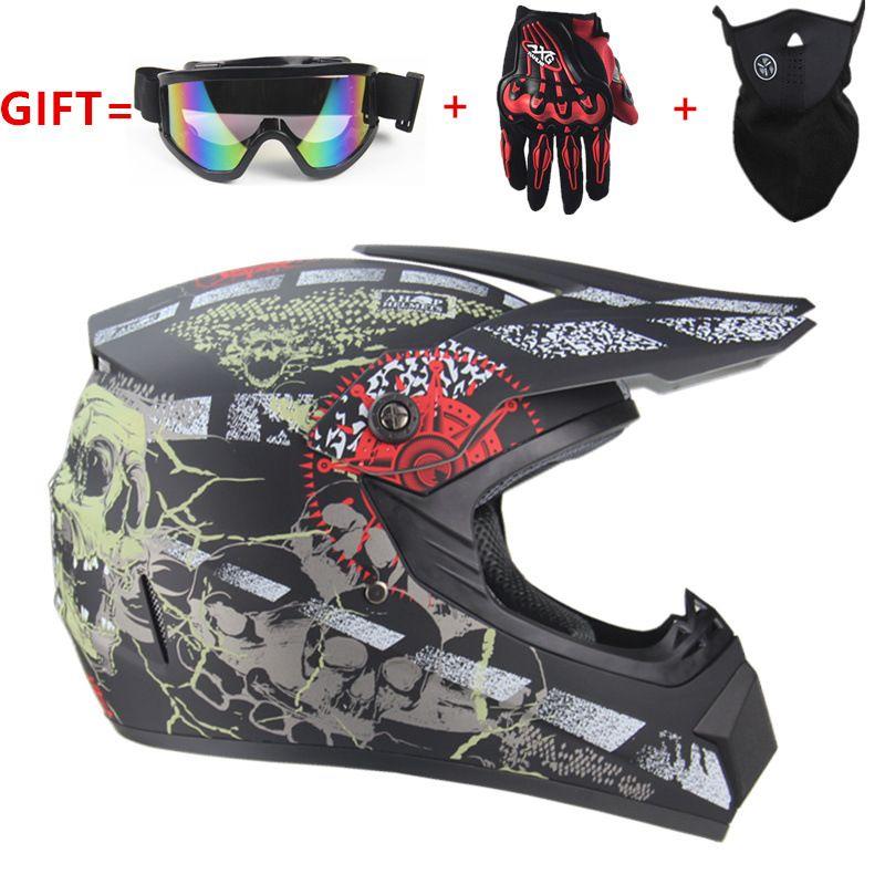Die beliebtesten New Best Selling Motocross Helm Vollvisierhelm Motorrad Mountainbike Sportschutzhelm Freies Verschiffen