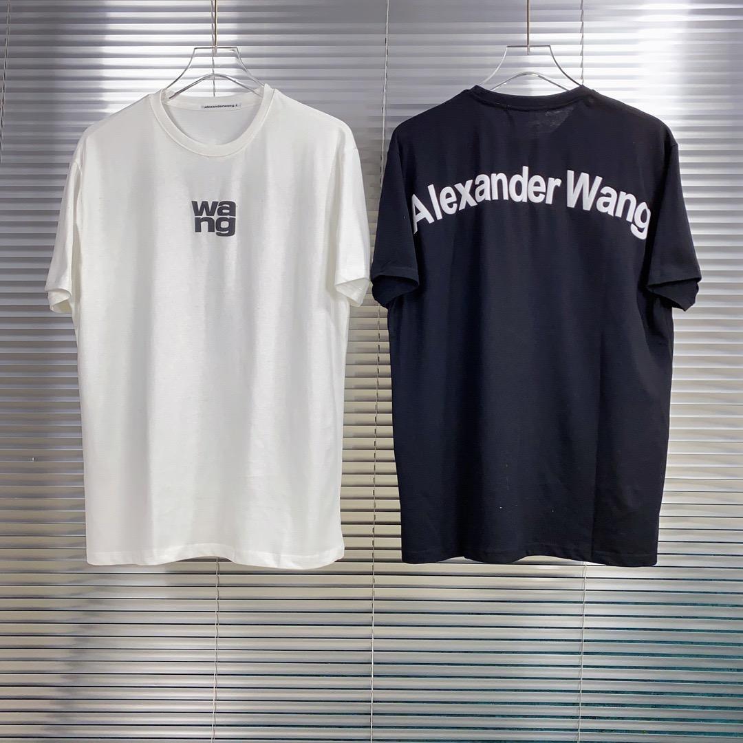 2020ss Frühling und Sommer neuer hochwertiger Baumwolldruck kurzer Ärmel Rundhalsausschnitt Panel T-Shirt Größe: m-L-XL-XXL-XXXL Farbe: schwarz wissen xa13V