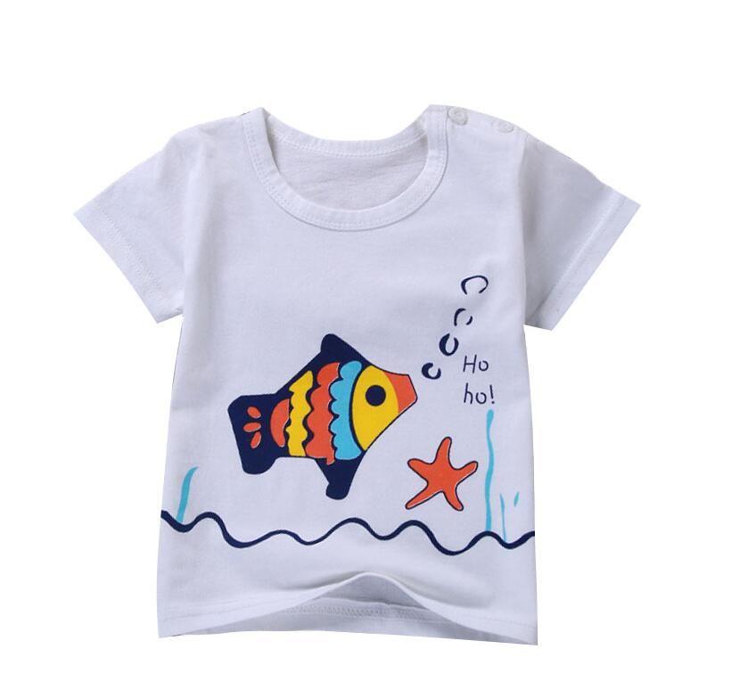 O воротник мальчиков тройники Топы Дети футболки Baby Girl коротким рукавом рубашки сплошной цвет кофточки мальчиков рубашки мальчиков летняя одежда