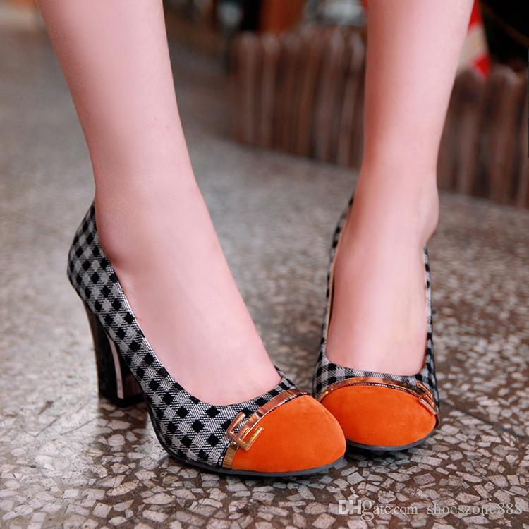 klassische weibliche Schuhe der hohen Absätze für Frauenplattformen strömen starke Fersenart und weisefrauen-Partyhochzeitspumpen 8 cm Fersen-Tropfenverschiffen bx-828