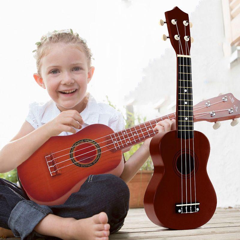21 pulgadas Ukelele Soprano 4 cuerdas de la guitarra hawaiana Uke + String elección para principiantes niño regalo # 8 +