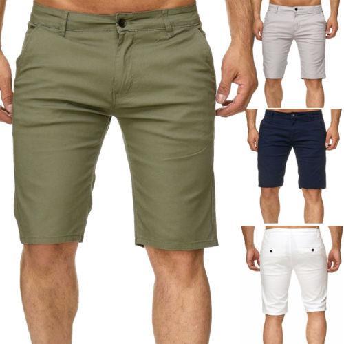 Verão New Mens carga Shorts Stallion Chino Casual combate Casual Shorts Cotton New Work Meia Calça Streetwear fz0365