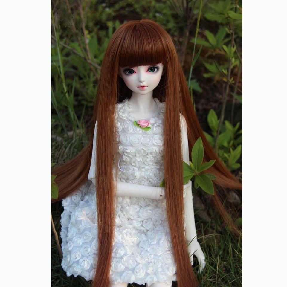 Bybrana многоцветный длинные прямые челки парики высокая температура волокна 1/3 1/4 1/6 1/8 BJD парики кукла аксессуары T200428