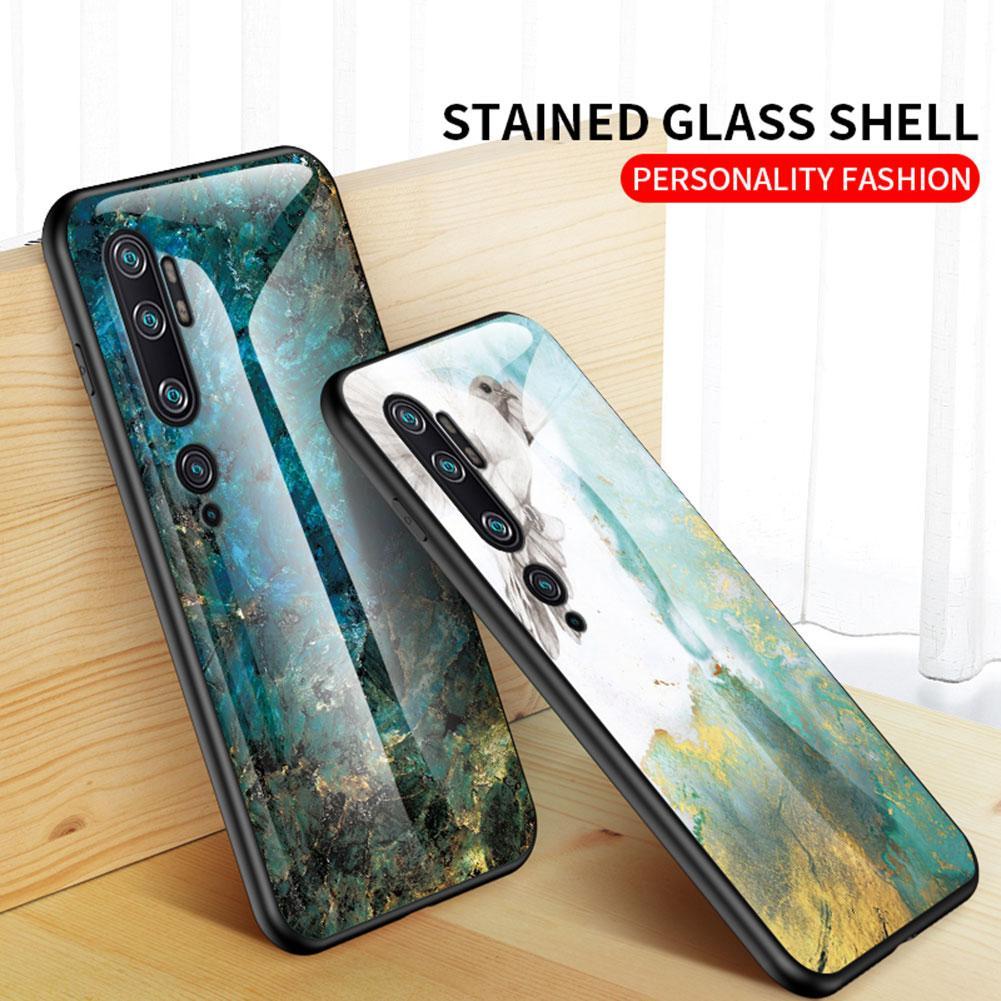 Verre Trempé luxe Marble Gradient pleine Bordures cas pour Xiaomi 9 Remarque Pro 10 Pro CC9 de CC9e brillant coloré couverture pour redmi K30 K20 Note8