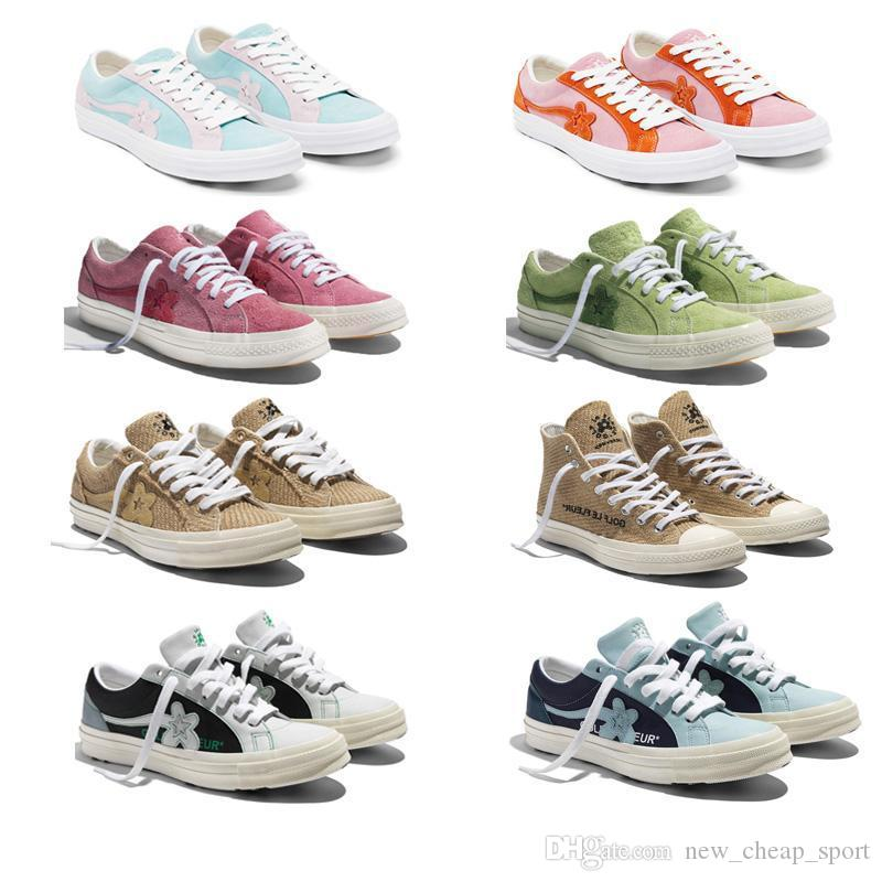 2019 Tyler The Creator X One Star Ox Golf Le Fleur Fashion Designer Sneakers Casual Shoes For Skateboarding Sport Shoes For Men Womens Yellow Shoes Gold Shoes From New Cheap Sport 34 85 Dhgate Com