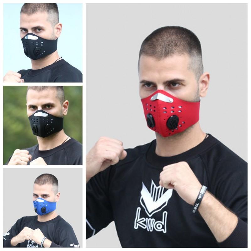 En stock Filtre Masque de visage avec respirateurs Valve PM2.5 Masques de protection de protection anti-poussière anti-poussière Hommes Femmes Visages élastiques