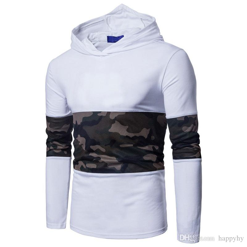Mens Hooded Sweatshirts Hip Hop Mantle Hoodies Jacket Camouflage mesh stitching Cloak Male Coat Outwear Assassin Creed Hoodeds free shipping