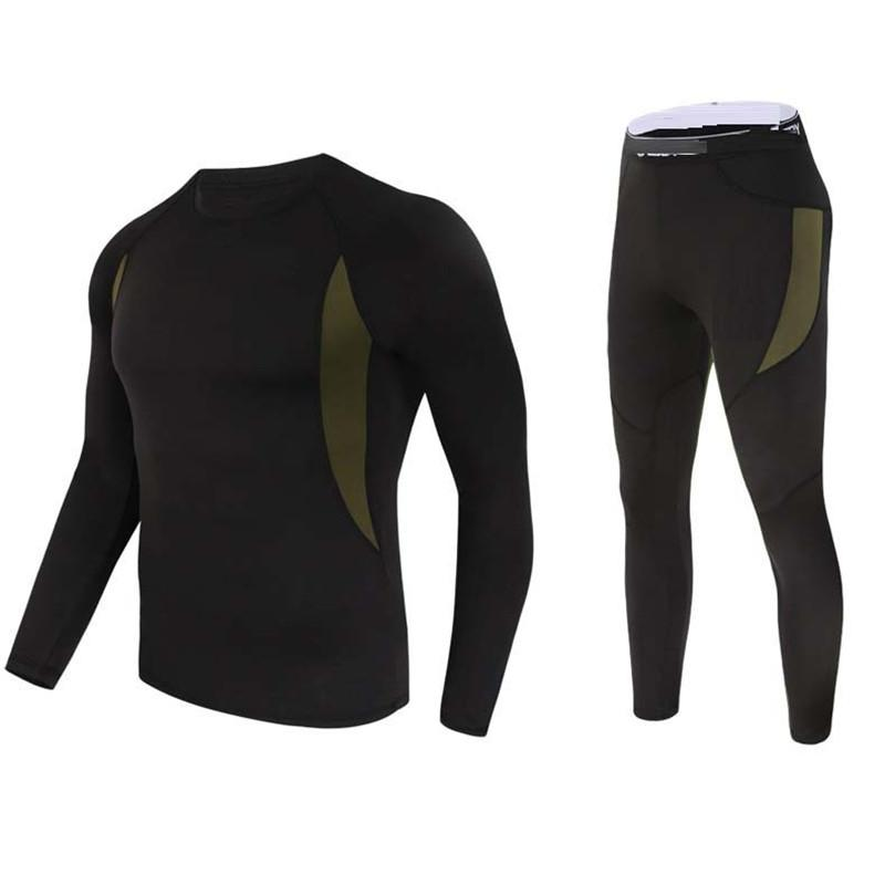 Thermal Underwear Man Winter Clothes Hot-Dry Technology Surface Thermo Underwear Set Man Long John Quick Dry Anti-microbial