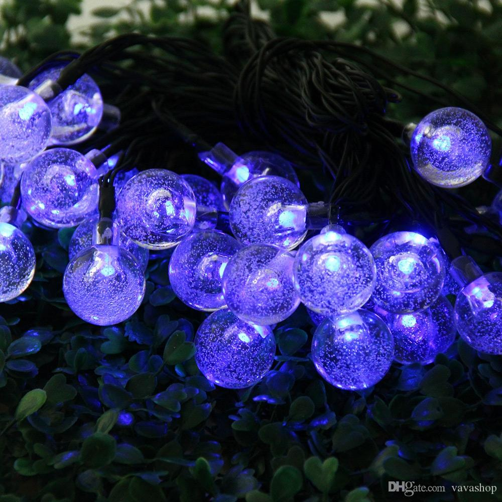 VCT - SIC055 Christmas Props 6m 30 LEDs Solar String Light Bubble Style Lamp Decors New Year Decoration