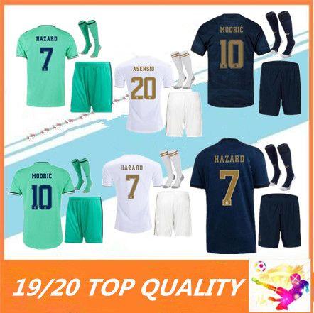 19 20 Real madrid HAZARD Soccer jerseys 2019 2020 BENZEMA MODRIC isco MARCELO bale ASENSIO adult camiseta de futbol FOOTBALL SHIRTS