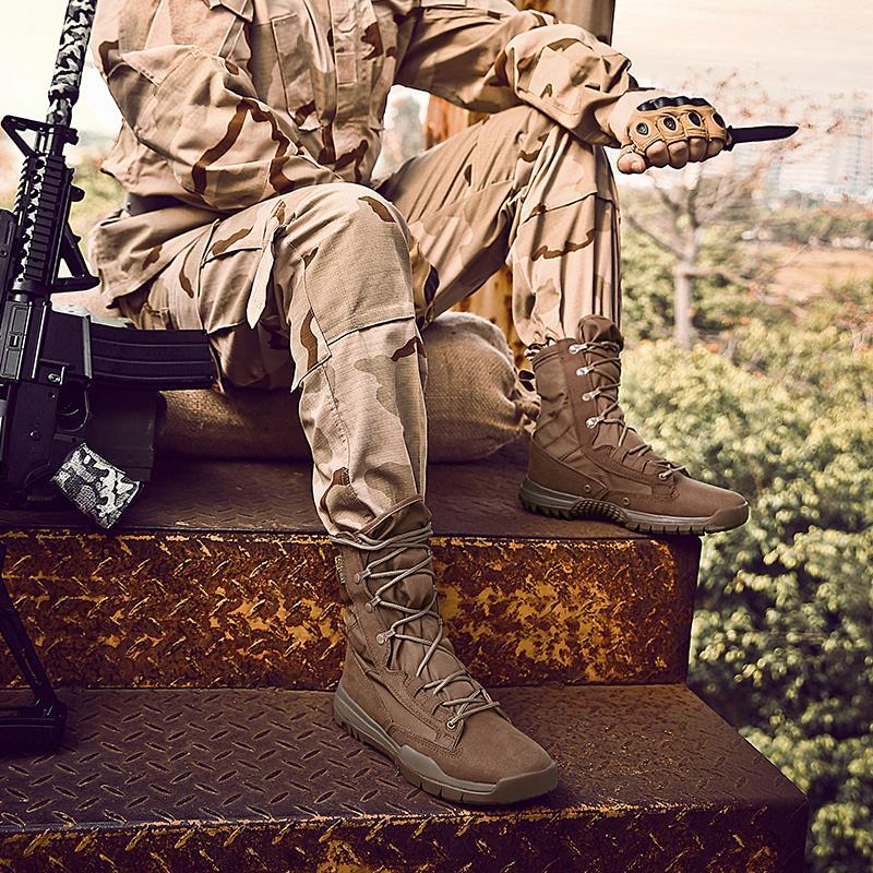 الجيش أحذية الرجال أحذية الجيش صيف ربيع العسكرية أحذية التكتيكية الأسود براون الرجال الاحذية الصلبة المضادة للانزلاق وذكر عارضة حذاء رياضة