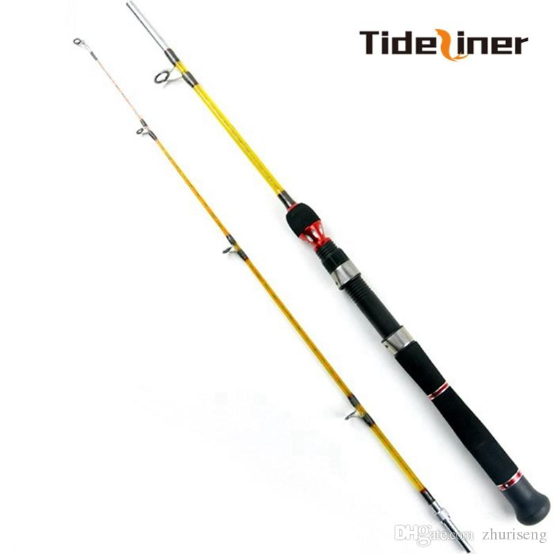 Tideliner 1.8m boat fishing rod 2 sections seafishing trolling jigging lure spinning fishing rods pole tackle