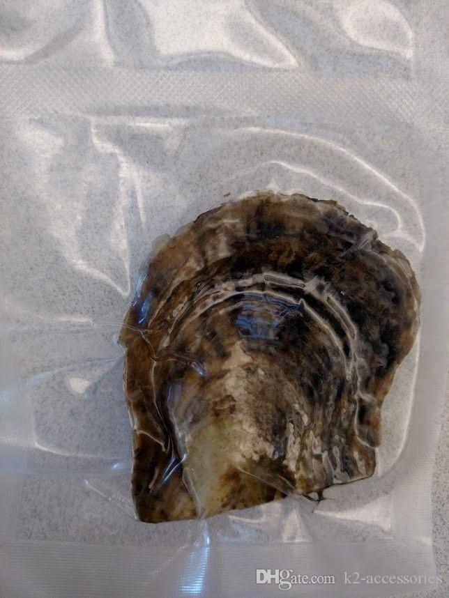 Regalos del banquete de Fanstic vacío Paquete de agua salada Akoya de la ostra con 6-7 mm redondo multicolor perlas de agua dulce a granel