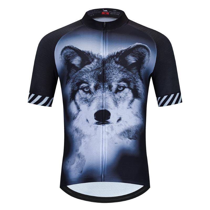 SPEED RIDING COOL High quality short sleeve cycling jersey 2020 downhill mtb jersey BMX bike ciclismo sport pro The black Wolf