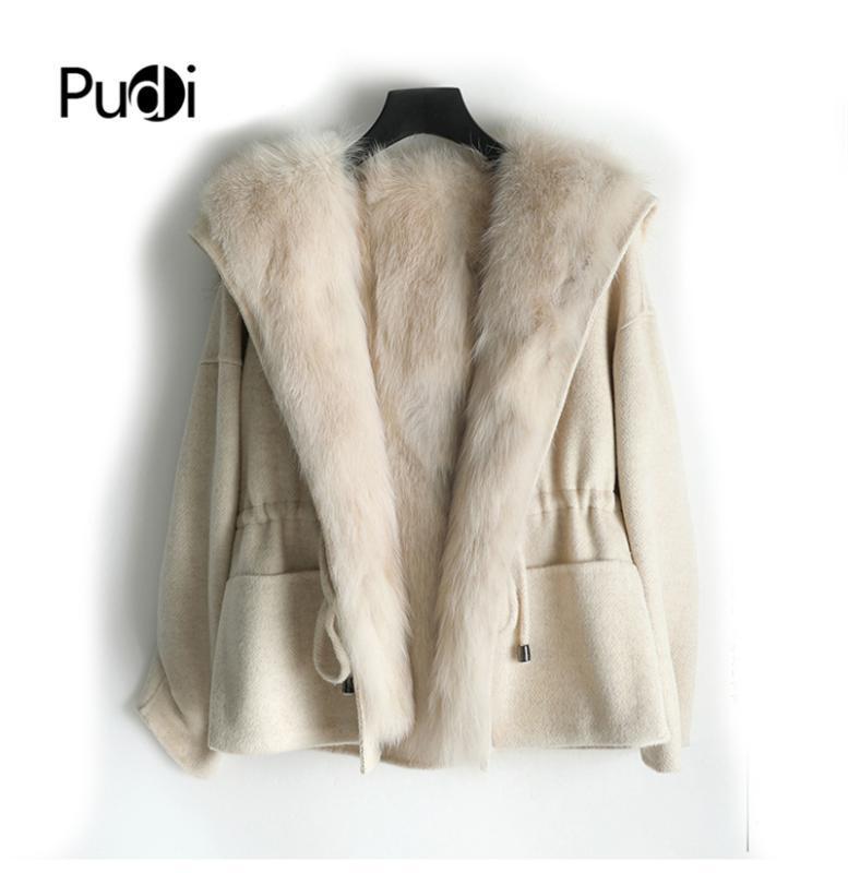 ZY18166 femmes vraie dame veste manteau de fourrure femme doublure en fourrure avec capuche en laine d'hiver parka tranchée