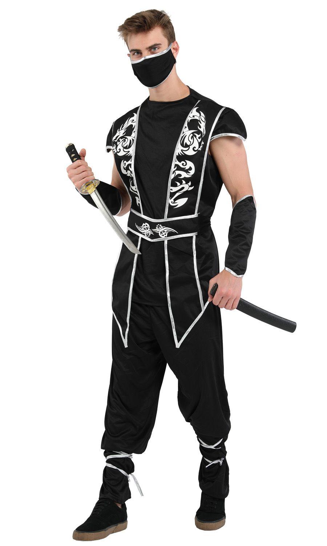 Shanghai Story Men's Halloween Costume Ninja Cosplay Adult Costumes Black