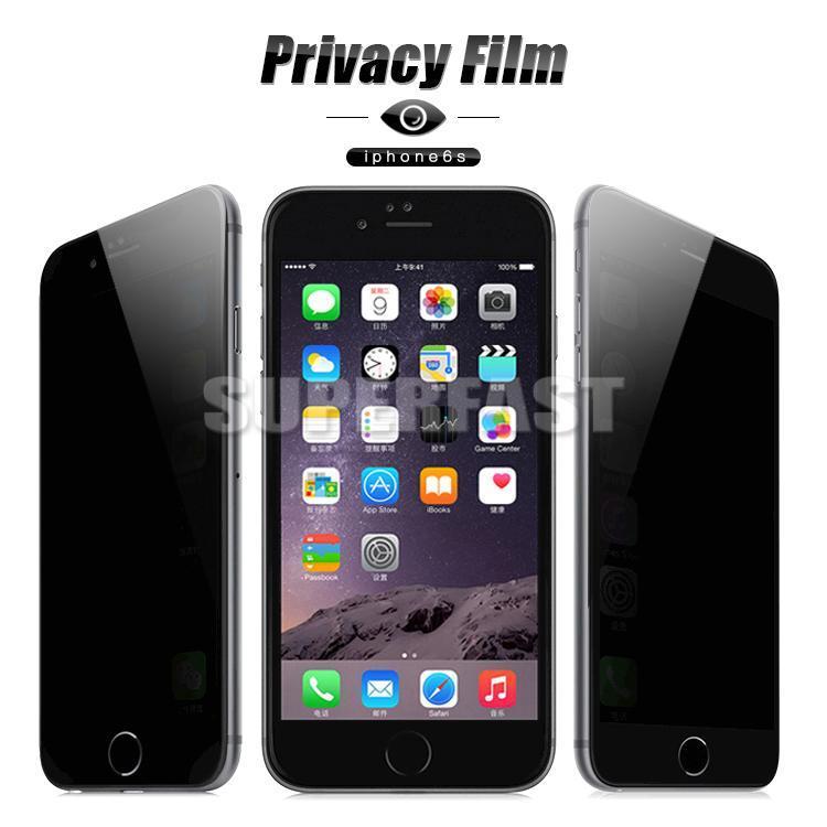Schermo dello schermo di segretezza di vetro per iPhone X XS MAX Protector 9H Anti-Spy Peeping per Samsung S3 Galaxy S6 Nota 5 in imballaggio al dettaglio