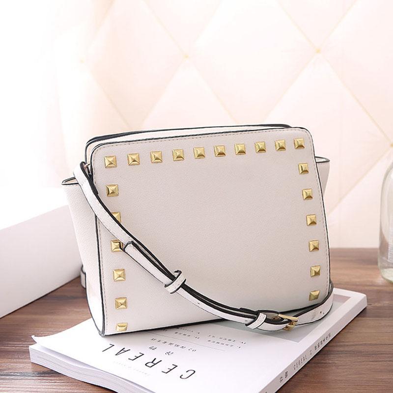 Hot-Hersteller Großhandel Entwerfer-Frauen-Schulter-Beutel Luxus-Handtaschen Portemonnaie Rivet Kreuz-Muster-Schulter-Beutel PU-Handtaschen-Frauen Umhängetasche