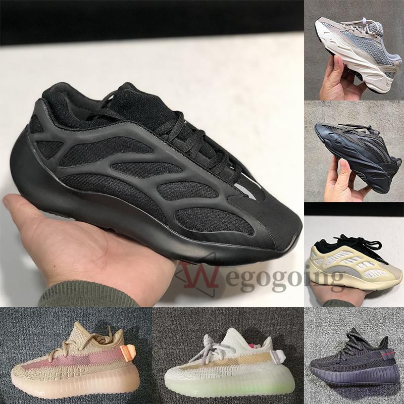 Adidas Yeezy 2020 700 Chaussures de sport coureur de vague statique V3 Azaël Alva Kid Chaussures de course Zebra Clay Triple Noir Yecheil enfants en bas âge Garçon Fille Formateurs