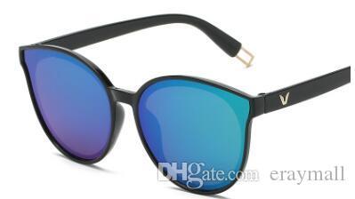 Mais barato moda óculos de sol do quadro do círculo letra c reflexivo óculos de sol muitas cores e estilos pode escolher 128