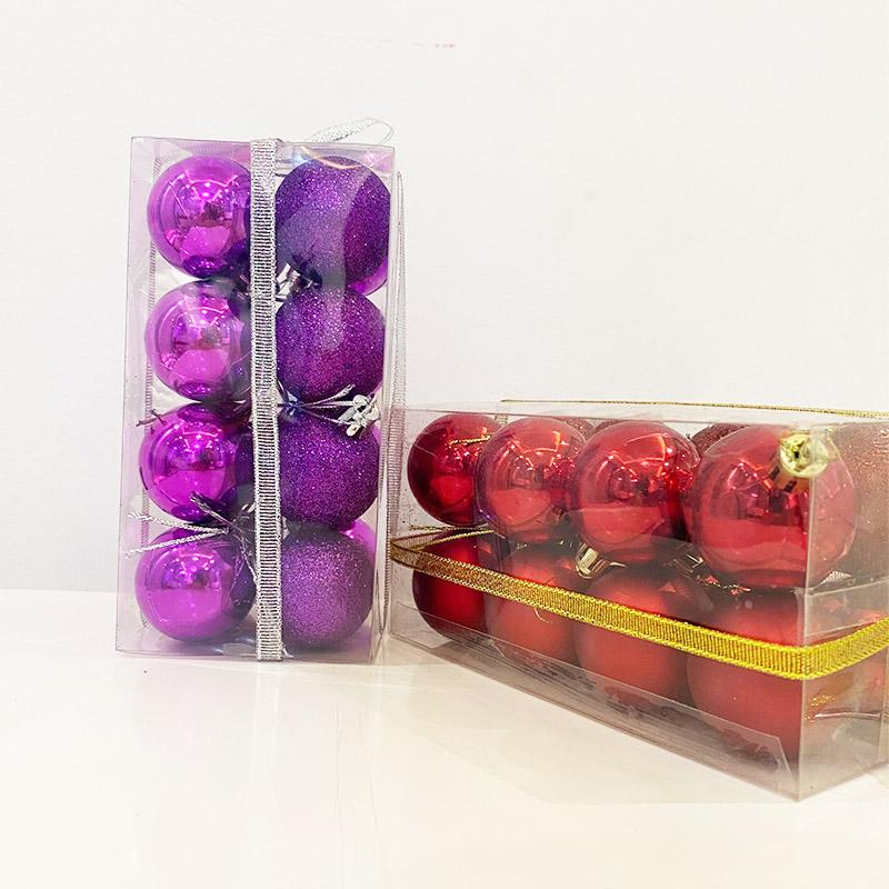 Holiday Ornaments, Christmas Decorations, Christmas Balls, Four Centimeter Ribbon Set Balls