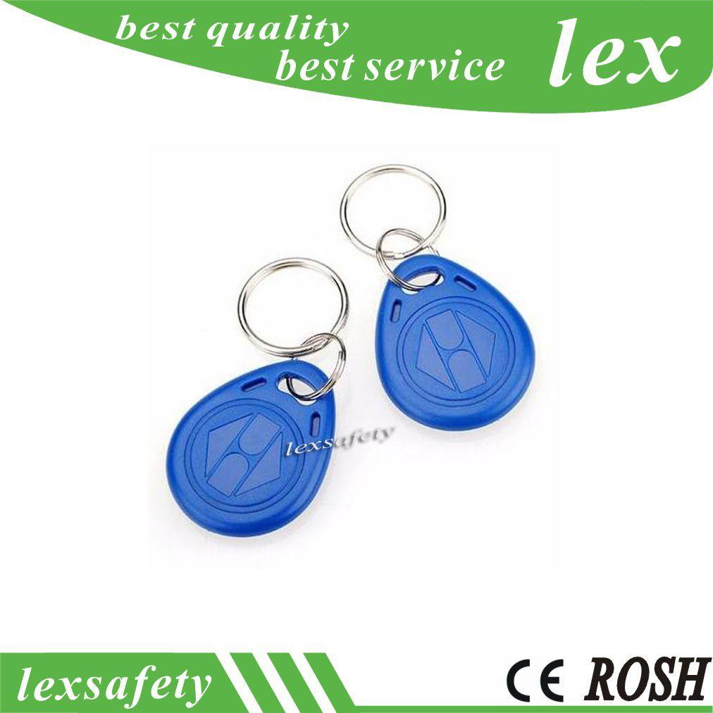 Prix usine pas cher font Meilleur cool TK4100 125khz 100pcs / lot ISO11785 ABS RFID Plastique clé personnalisée Fobs clés tags