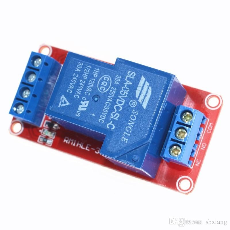 Freeshipping 5V 30A Two-way isolation relay module High/low level trigger 5V 30A 1-Channel Relay Module