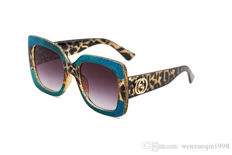 2018 جديد الموضة UV 400 صندوق حماية إيطاليا العلامة التجارية مصمم سلسلة ذهبية Tyga Medusa النظارات الشمسية الرجال / النساء نظارات الشمس 9918