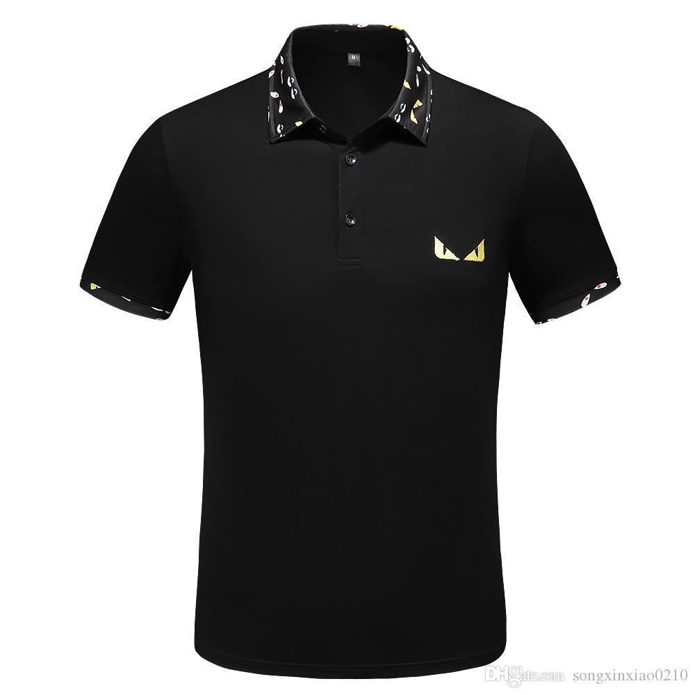 Heißer neuen Luxus-Polo-Shirt für Männer Poloshirt High Street Männer Poloshirt mit Umbauten Größe M - 3XL